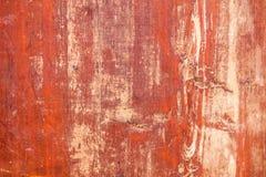 De oude rode grungy textuur van het triplexblad stock fotografie