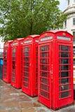 De oude rode telefooncellen van Londen Stock Foto