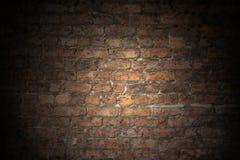 De oude Rode Vlakte van de Bakstenen muur Stock Foto's
