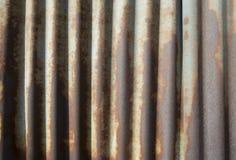 De oude roestige achtergrond van de Zinkmuur Royalty-vrije Stock Afbeelding