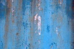 De oude roestige oppervlakte van de metaalcontainer Royalty-vrije Stock Afbeeldingen
