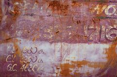 De oude Roestige Oppervlakte van het Metaal Stock Afbeeldingen