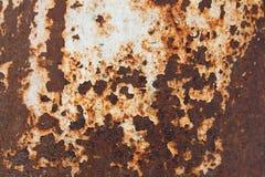 De oude roestige textuur van de metaalplaat stock fotografie
