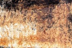 De oude roestige uitstekende achtergrond van het ijzermetaal Stock Afbeeldingen