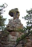 De oude rots van het Meisje in Nationaal Monument Chiricahua Royalty-vrije Stock Fotografie