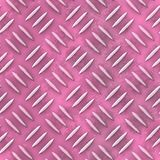 De oude roze textuur van het de plaat naadloze patroon van het diamantmetaal Stock Afbeeldingen