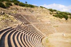De oude ruïnes van Assos Royalty-vrije Stock Foto's