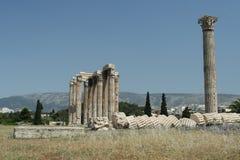 De oude Ruïnes van Athene Stock Foto's