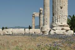 De oude Ruïnes van Athene Stock Afbeeldingen