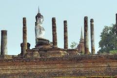 De oude ruïnes van Boedha en van de tempel Stock Fotografie