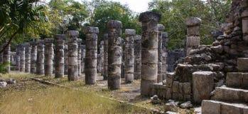 De oude ruïnes van chichen itza royalty-vrije stock afbeelding