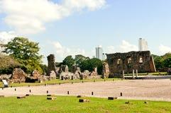 De oude Ruïnes van de Stad van Panama Stock Fotografie