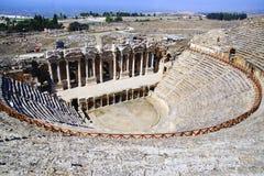 De oude ruïnes van Hierapolis Royalty-vrije Stock Fotografie