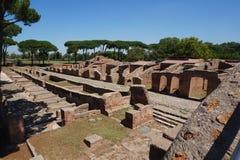 De oude ru?nes van Ostiaantica Rome - Itali? royalty-vrije stock afbeeldingen