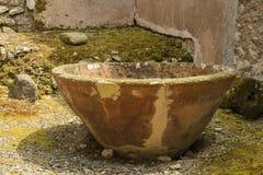 De oude ruïnes van Pompei Stock Foto's