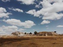 De oude ruïnes van Tula, hoofdstad van Toltecs mexico Stock Afbeelding
