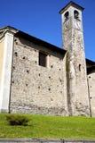 De oude samenvatting van Arsagoseprio in Italië de muur Stock Foto's
