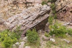 De oude Scène van de Rotssteengroeve Stock Afbeelding