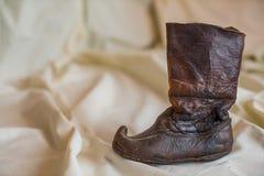 De oude Schoen van het Leer stock foto