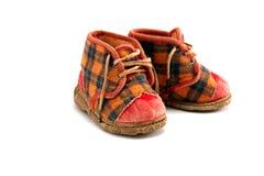 De oude Schoenen van de Baby Royalty-vrije Stock Afbeeldingen