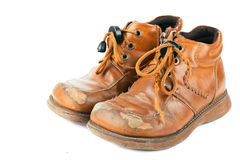 Oude schoenen Royalty-vrije Stock Fotografie