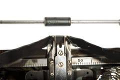 De oude schrijfmachine van het detail Royalty-vrije Stock Foto's