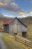 De oude schuur West- van Virginia Royalty-vrije Stock Afbeeldingen