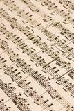 De oude Score van de Muziek Royalty-vrije Stock Afbeelding