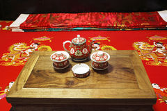 De oude slaapkamer van de Chinees-Stijl Stock Foto