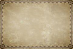 De oude spatie van het kaartperkament royalty-vrije illustratie