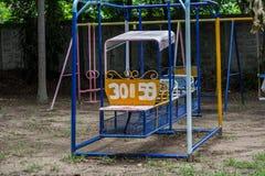 de oude speelplaats en de werf Stock Fotografie