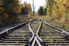De oude spoorweg royalty-vrije stock fotografie
