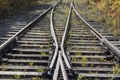De oude spoorweg royalty-vrije stock afbeelding