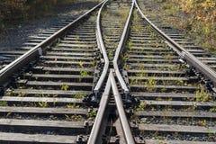 De oude spoorweg royalty-vrije stock foto's