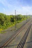 De oude spoorweg Stock Afbeeldingen