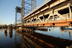 De oude spoorwegbrug Stock Foto