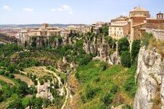 De oude Stad Cuenca, Spanje Royalty-vrije Stock Afbeeldingen