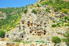 De oude stad in de rots Royalty-vrije Stock Afbeelding