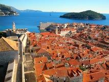 De oude stad in Dubrovnik royalty-vrije stock afbeelding