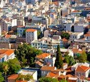 de oude stad en de nieuwe architectuur in oud Europa Griekenland bedriegen royalty-vrije stock fotografie