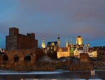De oude stad in Gdansk, Polen. Stock Foto