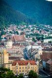 De oude stad in het hart van Transsylvanië Stock Foto's