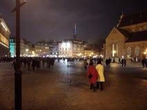 De oude Stad is het historische en geografische centrum van Riga stock afbeeldingen