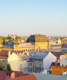 De Oude Stad Kroatië van horizonzagreb royalty-vrije stock afbeelding