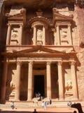 De oude stad van Al Khazneh van Petra in Jordanië stock foto