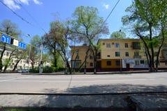 De oude stad van Alma Ata op een zonnige dag Royalty-vrije Stock Fotografie