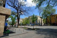 De oude stad van Alma Ata op een zonnige dag Royalty-vrije Stock Foto
