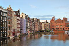 De Oude Stad van Amsterdam Stock Foto's