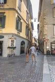 De Oude stad van Bergamo Stock Afbeelding