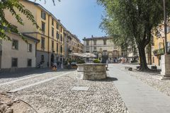 De Oude stad van Bergamo Stock Fotografie